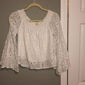 Hollister - White Lace Top